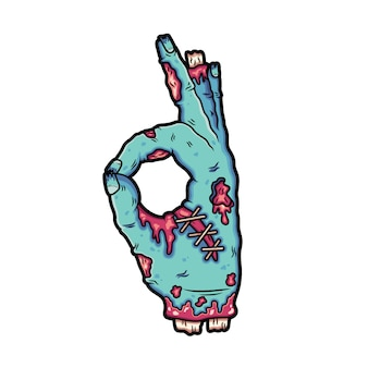 Broken zombie hands make a signature okay.