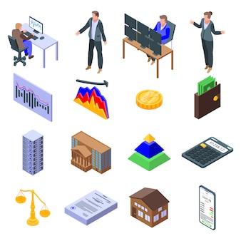 Broker icons set