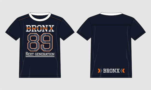 ブロンクス89タイポグラフィtシャツベクトルデザインイラストプレミアムベクトル