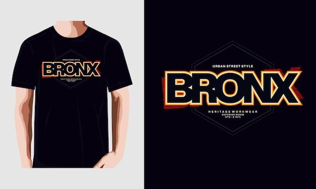 ブロンクス抽象的なグラフィックtシャツデザインタイポグラフィベクトルイラストプレミアムベクトル