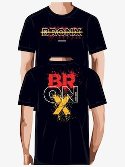 Bronx abstract graphic typography t shirt design premium vector