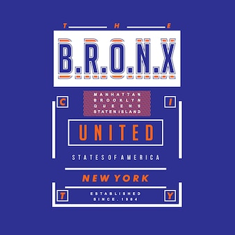 The bronx graphic t shirt design vector