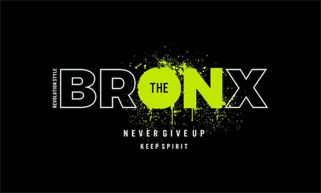 Bronx graphic typography  t shirt design print and more uses premium vector