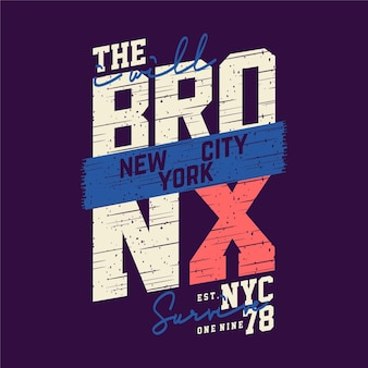 The bronx new york city text