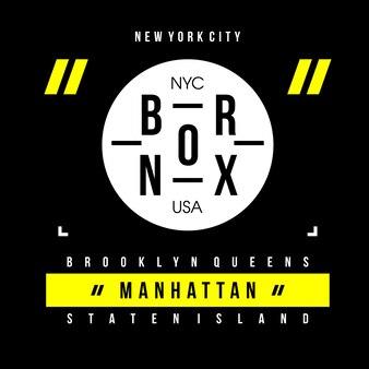 Bronx typography t shirt design