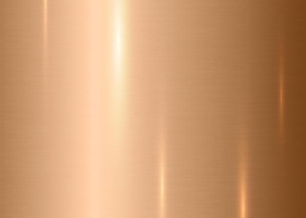 ブロンズの抽象的な工業用テクスチャの背景金属の起毛ニッケル表面とリアルなハイライト