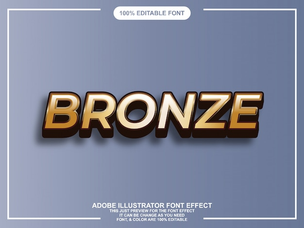 Bronze bold graphic style easy editable font
