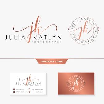 Bronze business card template