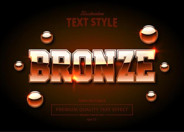 Bronze illustrator text effect
