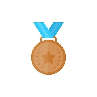 Бронзовая медаль со звездой и лентой