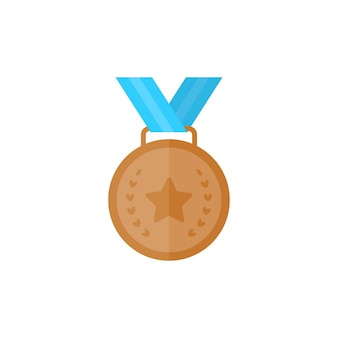 Bronze medal with star and ribbon