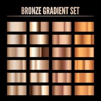 Bronze metal realistic gradient illustration