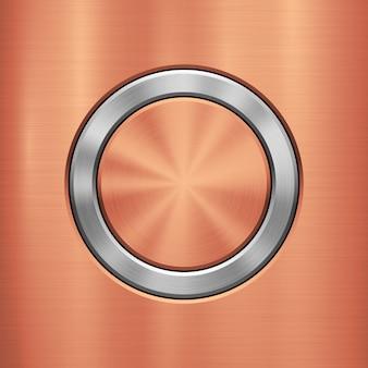 Bronze metal technology background