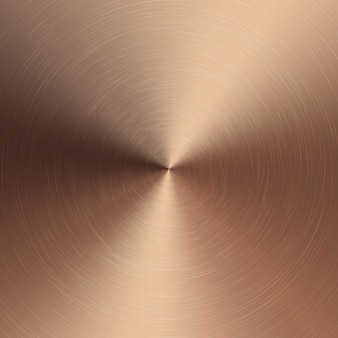 Bronze metallic radial gradient with scratches. bronze foil surface texture effect.