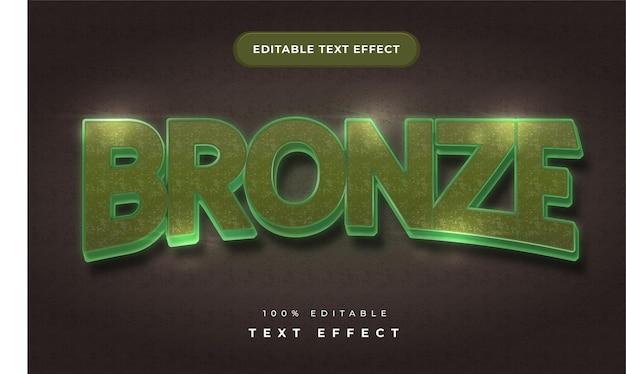 Бронзовый текстовый эффект для иллюстратора