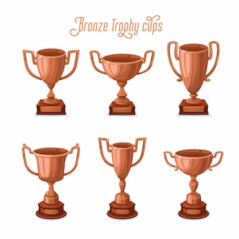 Bronze trophy cups