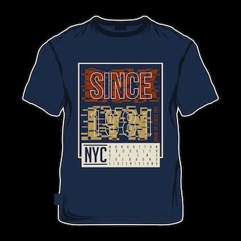 ブルックリンの抽象的なクールなtシャツ印刷