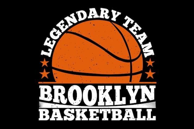 Бруклинский легендарный баскетбол в винтажном стиле