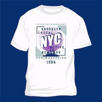 브루클린 뉴욕시 그래픽 타이포그래피 벡터 t 셔츠 디자인 일러스트 캐주얼 스타일