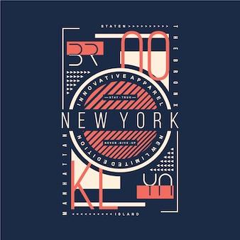 Бруклин нью йорк графический дизайн футболки типография