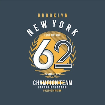 Бруклин нью-йорк спортивная футболка