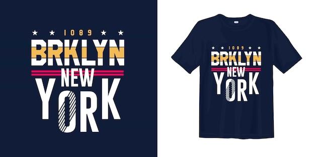 ブルックリンニューヨークのスタイリッシュなグラフィックtシャツアパレル印刷用