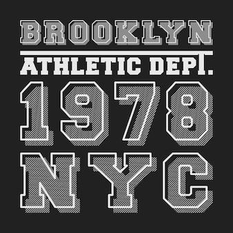 Brooklyn nyc t-shirt print