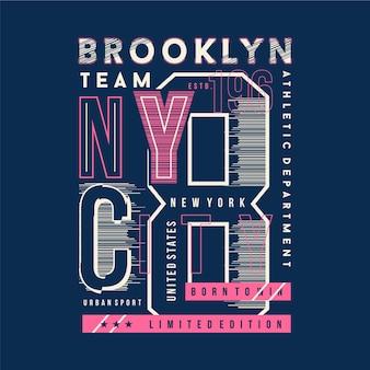 Бруклин, нью-йорк, типография