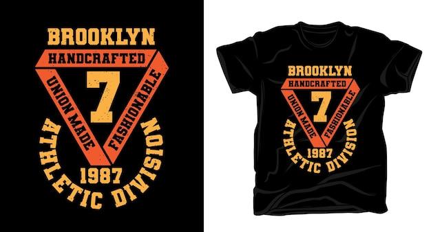 Brooklyn seven athletic division 타이포그래피 티셔츠 디자인