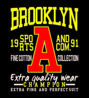 Brooklyn sportstyle t-shirt vector graphic