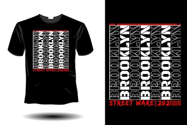 ブルックリンストリートウェアモックアップレトロヴィンテージタイポグラフィデザイン