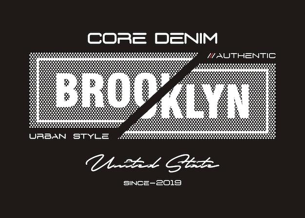 Бруклин типография для печати майка