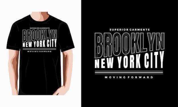Brooklyn typography tshirt design premium vector