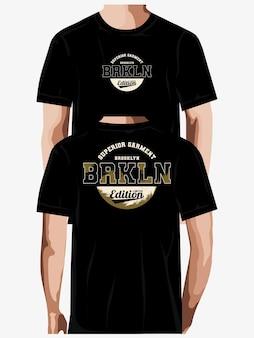 ブルックリンタイポグラフィtシャツデザインプレミアムベクトル