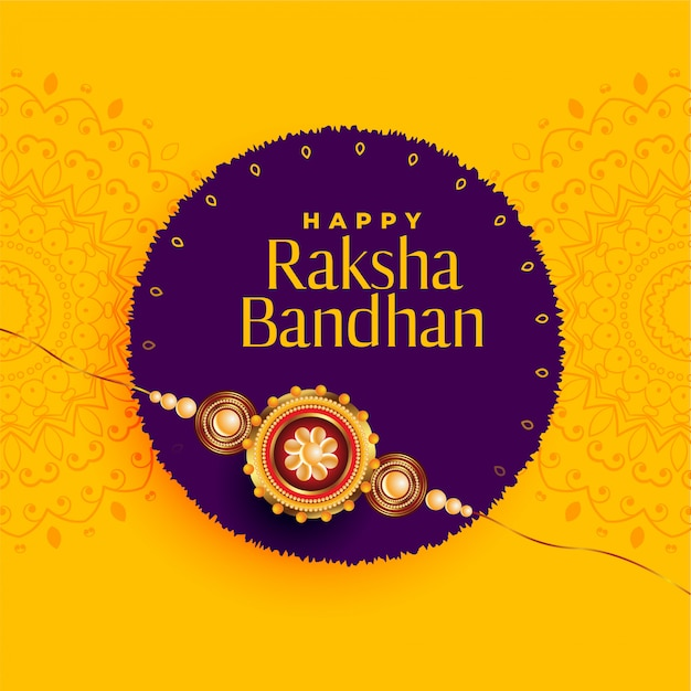 Brother and sister rakhi festival of raksha bandhan