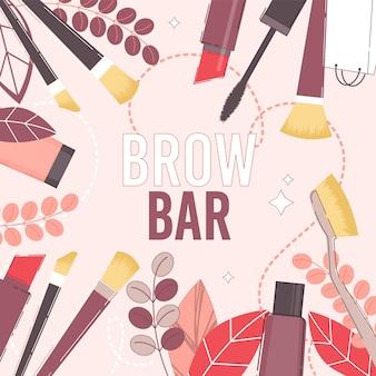 Brow bar and beauty salon presentation