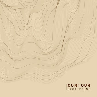 Brown abstract contour lines illustration