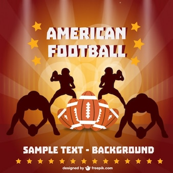 Brown american football players silhouettes, balls and stars