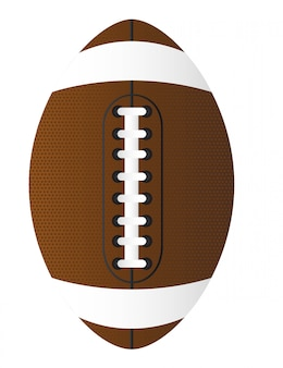 Brown american football over white background vector illustration