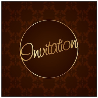 Brown and golden invitation
