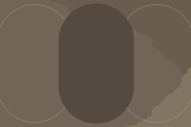 楕円形のフレームと茶色の背景
