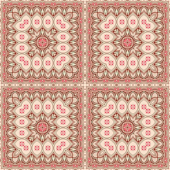 Brown and beige square pattern