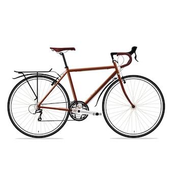 Brown bicyle vector