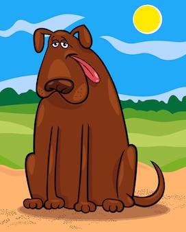 Коричневый большой мультфильм собака иллюстрации