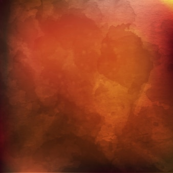 Brown blur watercolor background with yellow orange color shades
