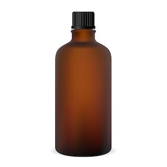 Brown bottle. glass medicine vial.
