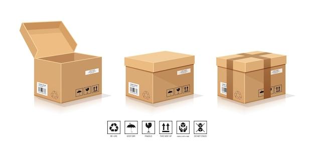 Коричневая упаковка коробки