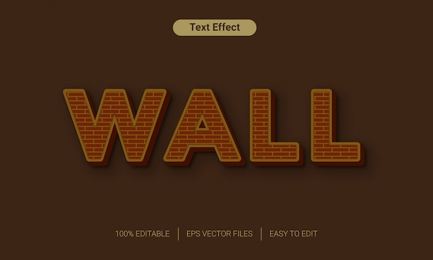Эффект стиля текста кирпичной стены