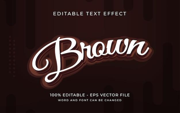 Текстовый эффект коричневого шоколада стиль редактируемый текстовый эффект