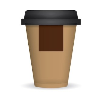 Brown coffee paper cup
